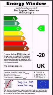 BFRC Energy Rating for Windows